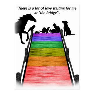 Postal del puente del arco iris