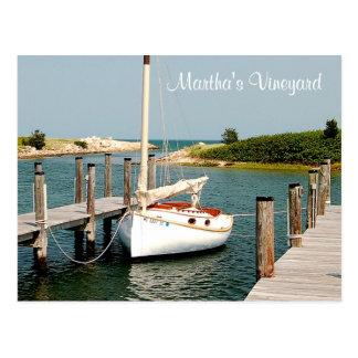 Postal del puerto del Martha's Vineyard de Cape