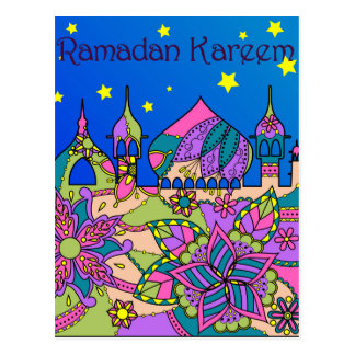Postal del Ramadán Kareem colorida