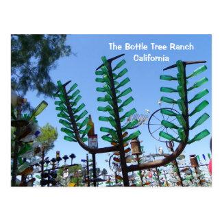 ¡Postal del rancho del árbol de la botella! Postal