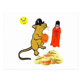 Postal del ratón de Halloween