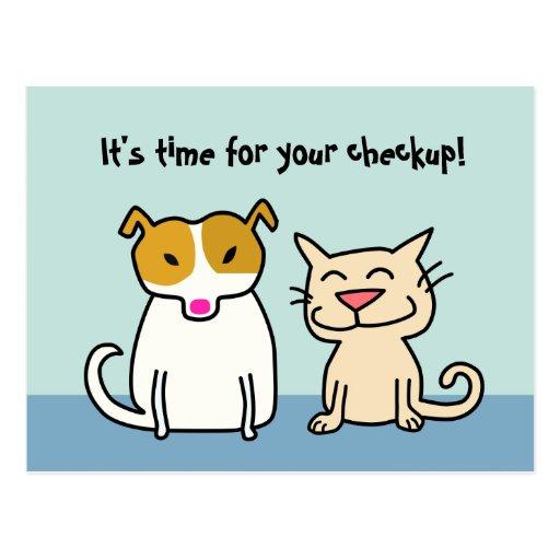 Postal del recordatorio del chequeo del veterinari