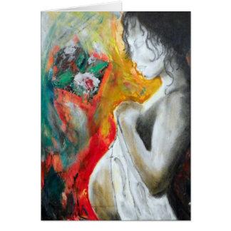 postal del regalo de la embarazo-pintura tarjeta de felicitación