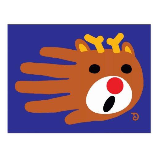 Postal del reno del navidad