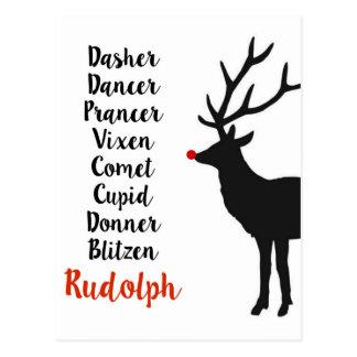 Postal del reno el | de Santa