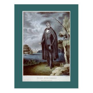 Postal del retrato de William Henry Harrison