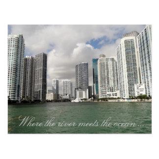 Postal del río de Miami