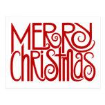 Postal del rojo de las Felices Navidad
