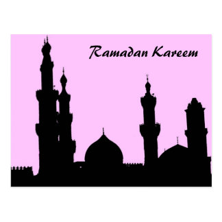 Postal del rosa de la mezquita del Ramadán