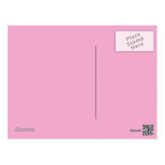 Postal del rosa en colores pastel