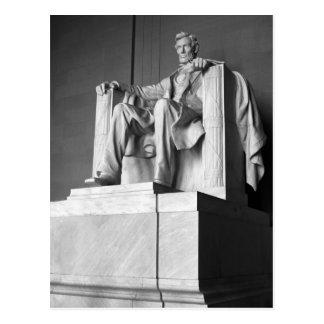 Postal del saludo del Lincoln memorial B&W