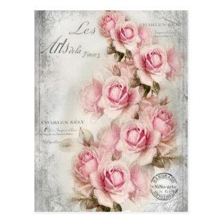 Postal del siglo XIX de los rosas