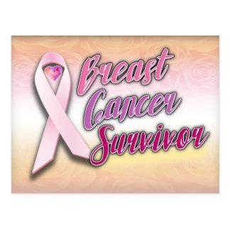 Postal del superviviente del cáncer de pecho