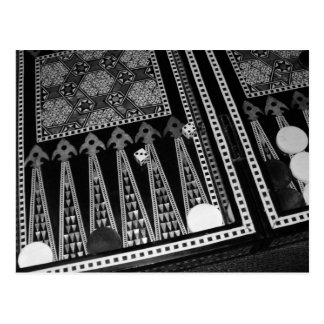 Postal del tablero de backgammon