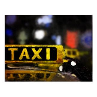 Postal del taxi