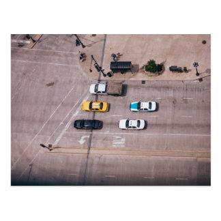 Postal del taxi de la calle de Chicago