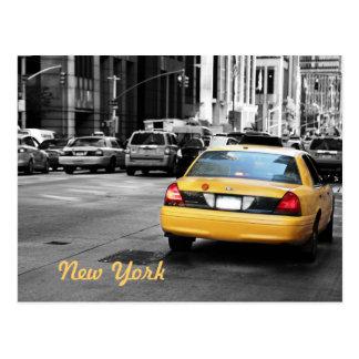 Postal del taxi de Nueva York