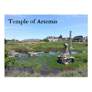Postal del Templo de Artemisa