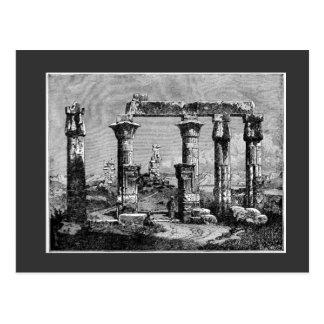 Postal del templo de Egipto antiguo