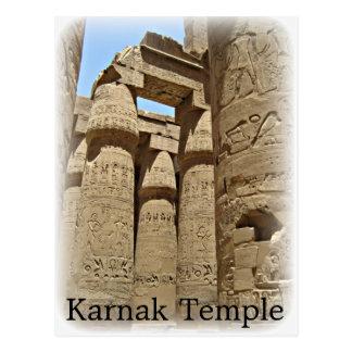 Postal del templo de Karnak