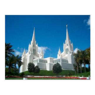 Postal del templo de San Diego LDS