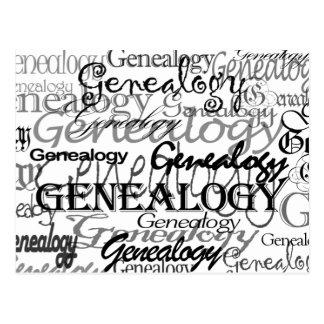Postal del texto de la genealogía