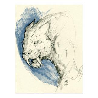 Postal del tigre del diente de SABRE