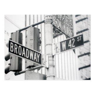 Postal del Times Square de Broadway