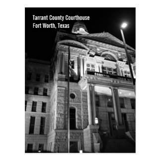Postal del tribunal del condado de Tarrant (noche)