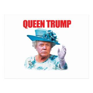 Postal del triunfo de la reina de Donald Trump