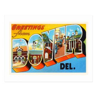 Postal del viaje de Dover Delaware DE Old Vintage