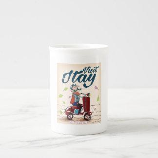 Postal del viaje de Italia del dibujo animado del Taza De Porcelana