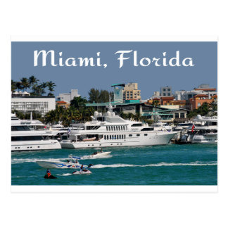 Postal del viaje de la Florida del puerto