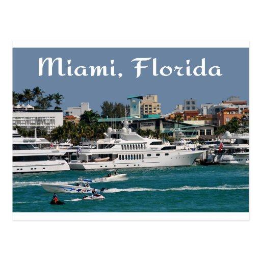 Postal del viaje de la Florida del puerto deportiv