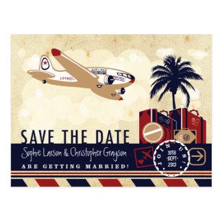 Postal del viaje de la línea aérea del vintage