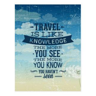 Postal del viaje de las vacaciones del viaje buena