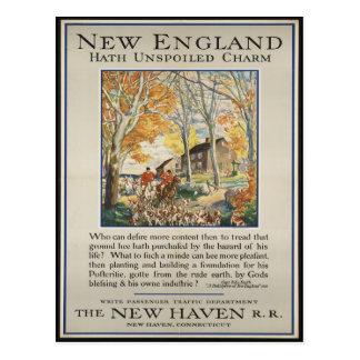 Postal del viaje de Nueva Inglaterra del vintage