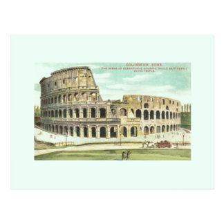 Postal del viaje de Roma Colosseum del vintage