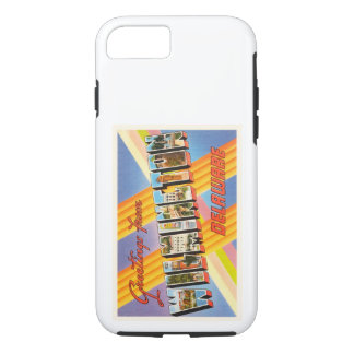 Postal del viaje de Wilmington Delaware DE Old Funda iPhone 7