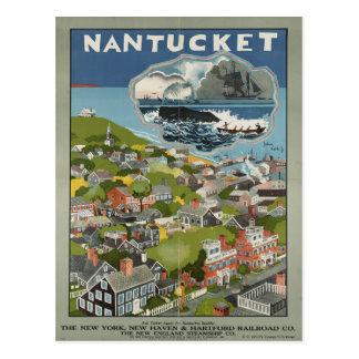 Postal del viaje del vintage de Nantucket