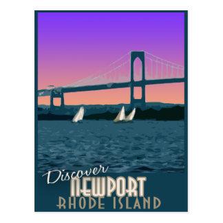Postal del viaje del vintage de Newport Rhode