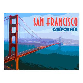 Postal del viaje del vintage de San Francisco