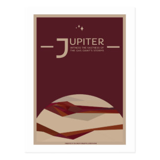 Postal del viaje espacial - Júpiter
