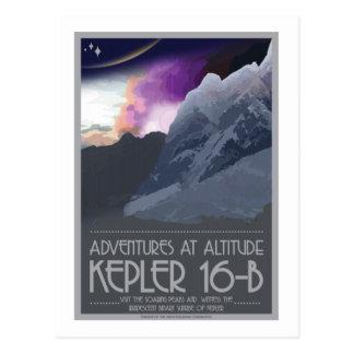 Postal del viaje espacial - Kepler 16 b