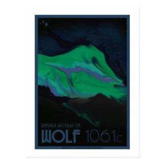 Postal del viaje espacial - lobo 1061c
