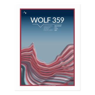 Postal del viaje espacial - lobo 359