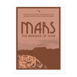 Postal del viaje espacial - Marte