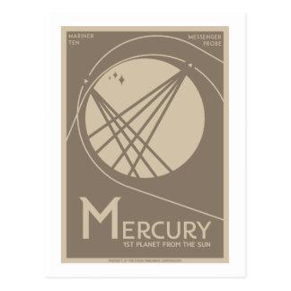 Postal del viaje espacial - Mercury