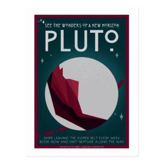 Postal del viaje espacial - Plutón