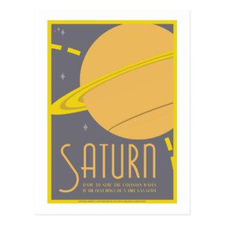 Postal del viaje espacial - Saturn